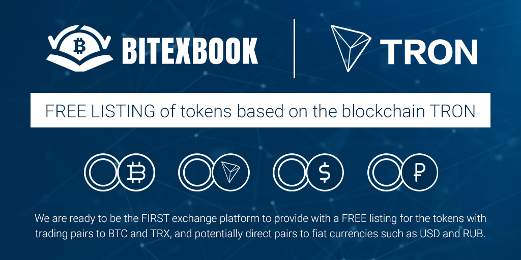 bitexbook listing TRON