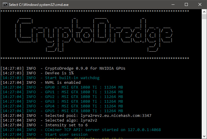 CryptoDredge 0.9.0 with new algorithms support