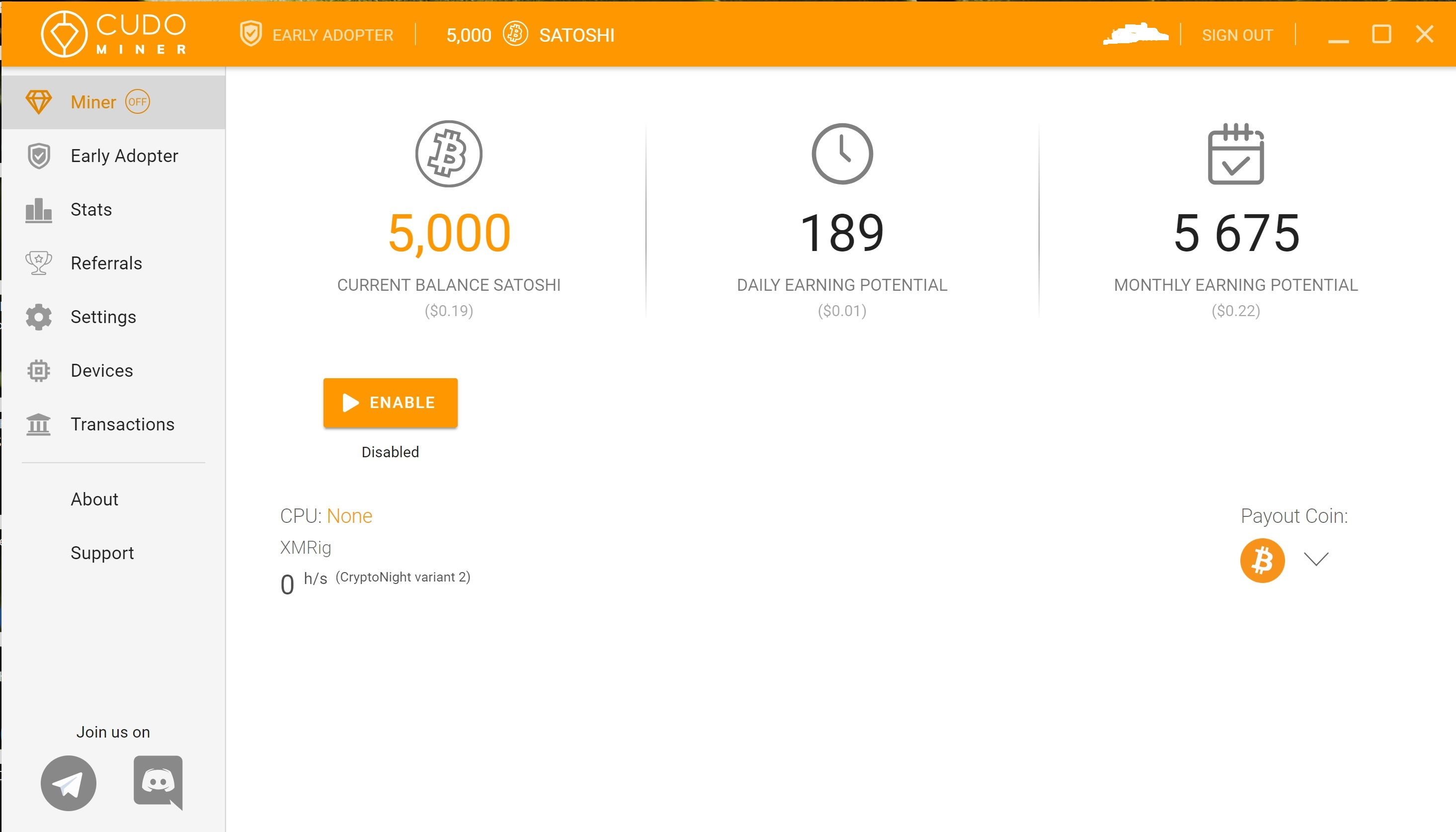 CudoMiner is a handy mining application with a 10,000