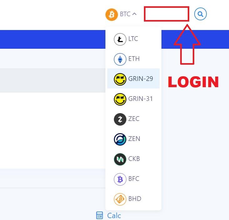 bitcoin mining login