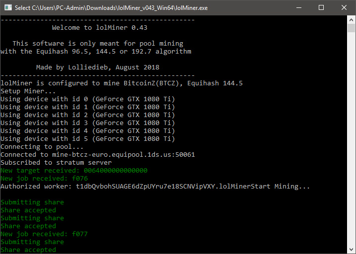 lolminer equihash