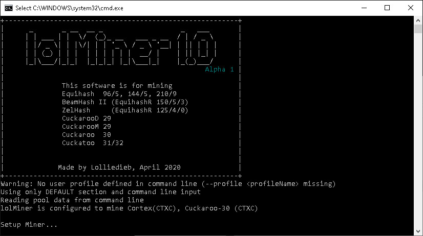 lolminer beamhash3 algo mining amd