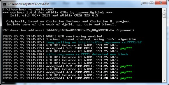 New ccMiner 1.6.4-git from tpruvot with multipool support