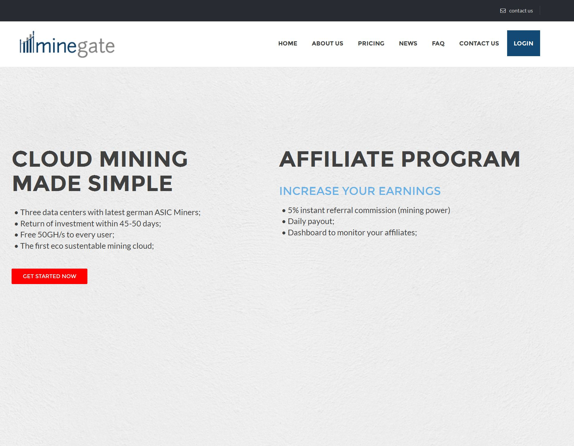 MineGate - another cloud mining service (HYIP) on the HashOcean engine
