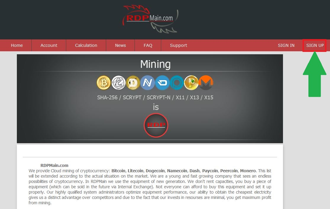 RDPmine - new unusual cloud mining service similar to EOBot and BTC-flow