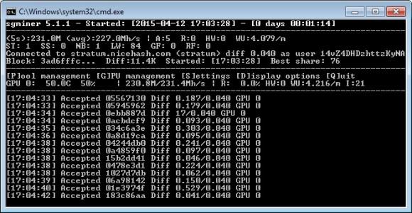 Обновление основной ветки майнера sgminer до версии 5.1.1