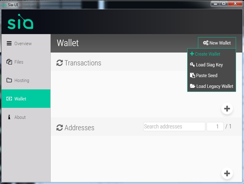 sia new wallet