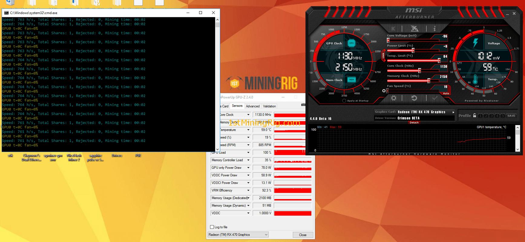 Лучший BIOS ROM для Sapphire RX 470 8GB Mining Edition с